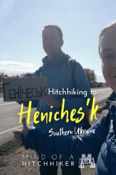 hitchhiking from biryuchiy island kyrylivka to henichesk heniches'k southern ukraine kherson 4